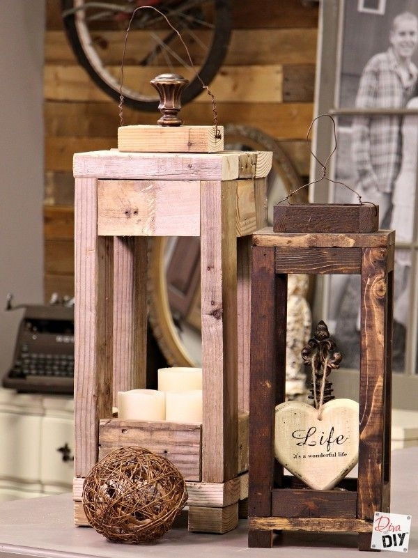 Easy Outdoor Decor: How To Make Lanterns From Scrap Wood | Furniture Throughout Outdoor Wood Lanterns (#9 of 15)
