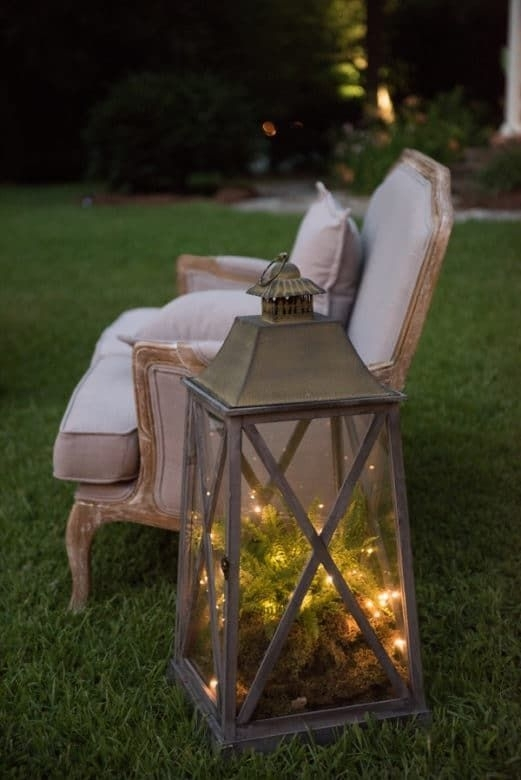 Elegant & Rustic Outdoor Wedding In 2018 | Home Sweet Home Within Large Outdoor Rustic Lanterns (View 3 of 15)