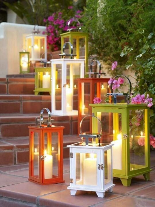 Entertaining With Style} Arranging Flowers In Outdoor Lanterns In Outdoor Lanterns With Flameless Candles (View 14 of 15)