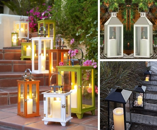Entertaining With Style} Arranging Flowers In Outdoor Lanterns Regarding Outdoor Lanterns For Deck (View 3 of 15)