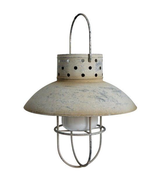 Escape To Paradise Metal Solar Lantern Galvanized | Home Decor Within Joanns Outdoor Lanterns (View 9 of 15)