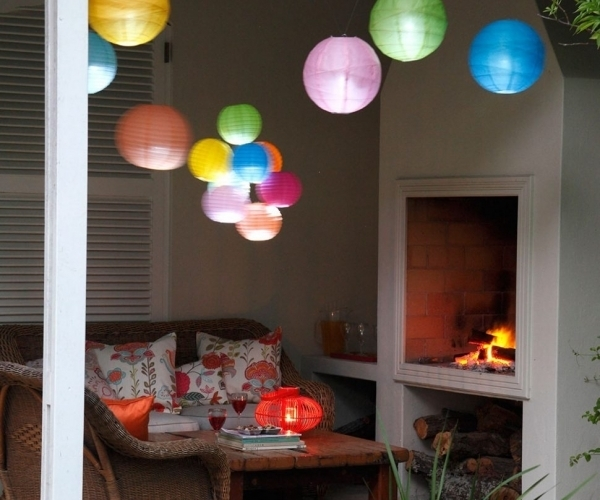 Especial Hot Pcs Chinese Hanging Paper Lanterns Roundlamp Wedding Intended For Outdoor Chinese Lanterns For Patio (View 15 of 15)