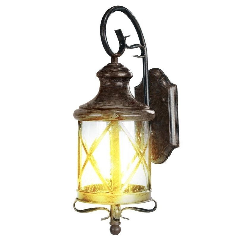 Etoplighting Lux 1 Light Outdoor Wall Lantern & Reviews | Wayfair With Joanns Outdoor Lanterns (View 10 of 15)
