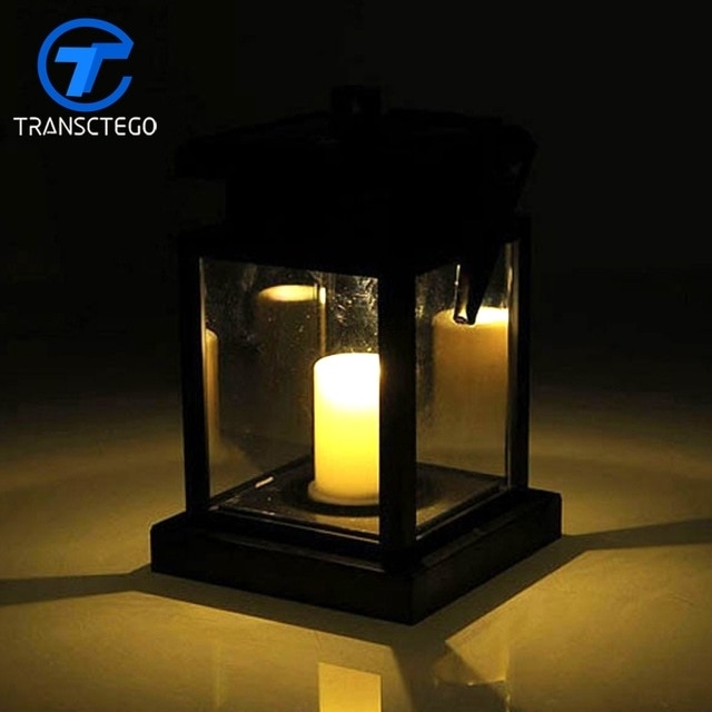 European Led Solar Lights Candle Lantern Retro Garden Lights Regarding Waterproof Outdoor Lanterns (View 4 of 15)