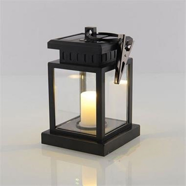 European Style Solar Light Lamp Led Candle Lantern Patio Chandelier Intended For Outdoor Lanterns With Led Candles (View 6 of 15)