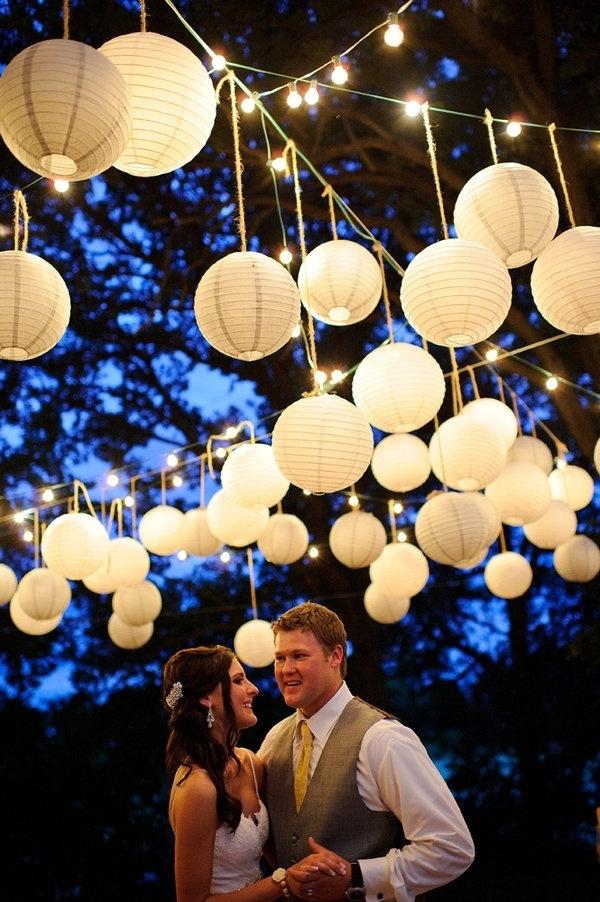 Exquisite Outdoor Wedding Décor Ideas | Decozilla Inside Outdoor Ball Lanterns (View 6 of 15)