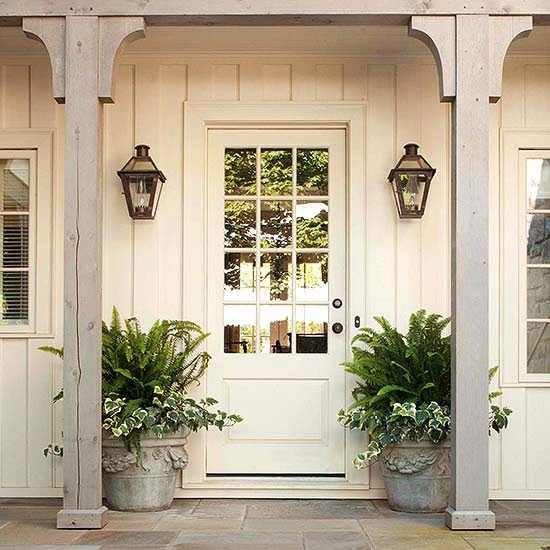 Exterior Lighting {charming Outdoor Lanterns} – The Inspired Room Pertaining To Outdoor Door Lanterns (View 8 of 15)