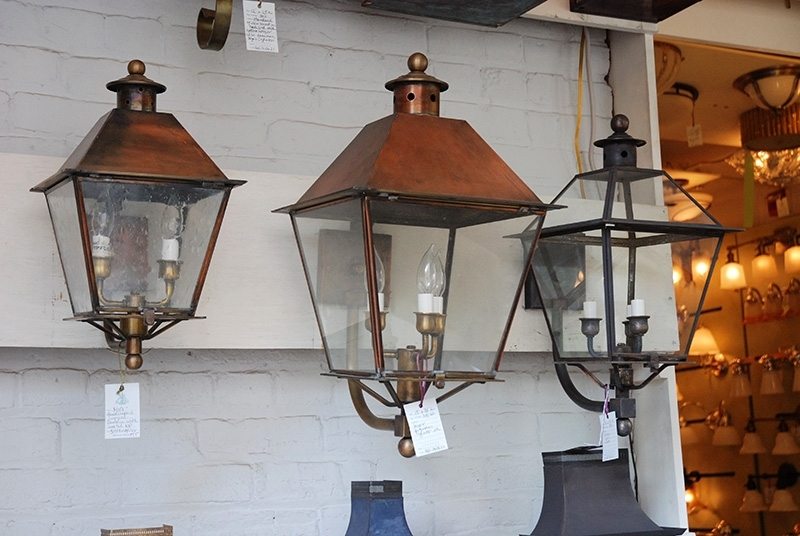 Exterior Lighting Gallery : Outside Lighting And Lamps, Hanging Regarding Copper Outdoor Lanterns (View 10 of 15)