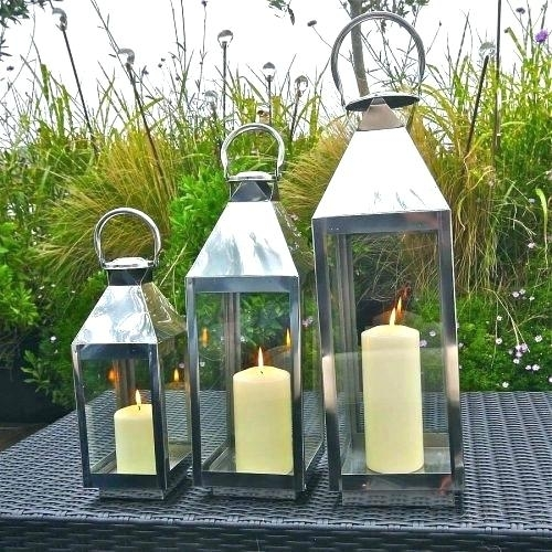 Extra Large Outdoor Lanterns Candle Tall Garden Lantern Adobe Regarding Tall Outdoor Lanterns (View 14 of 15)