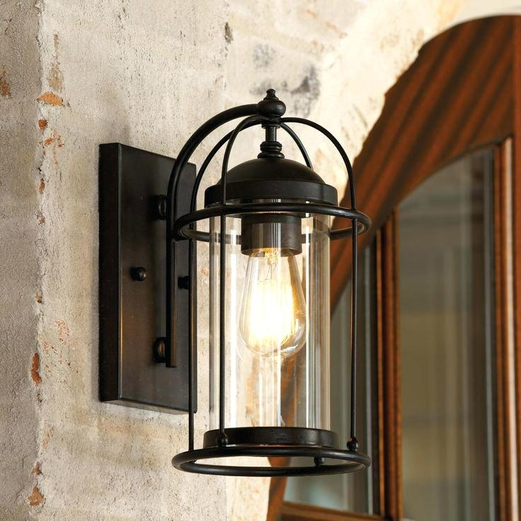 Extra Large Outdoor Lanterns Candle Tall Garden Lantern Adobe With Regard To Outdoor Lanterns And Sconces (View 10 of 15)