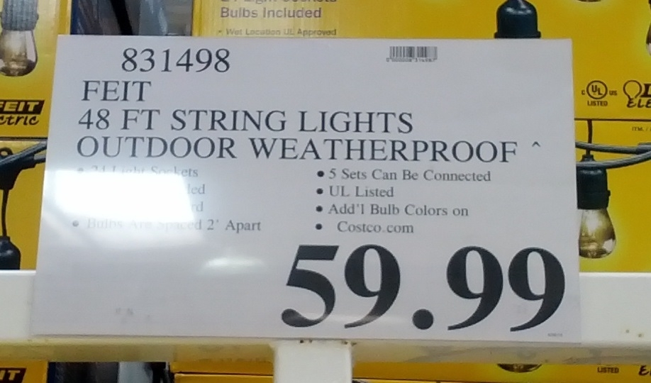 Inspiration about Feit 48 Ft Outdoor String Lights | Costco Weekender For Outdoor Lanterns At Costco (#14 of 15)