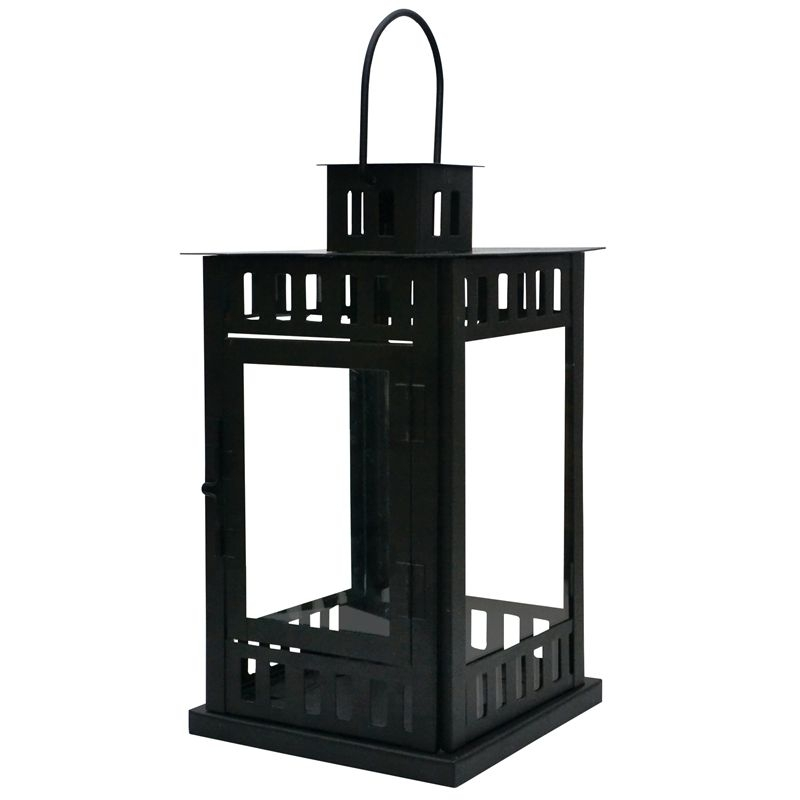 Find Waxworks Bauhaus Garden Lantern Black At Bunnings Warehouse Inside Outdoor Lanterns At Bunnings (View 6 of 15)
