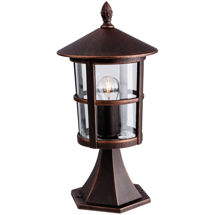 Firstlight Stratford 2357Bz Pillar Lantern (Bronze) Regarding Outdoor Pillar Lanterns (#5 of 15)