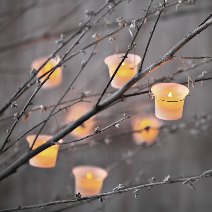 Flameless Tea Lights & Votives | Flameless Candles | Lights In Outdoor Lanterns And Votives (View 13 of 15)