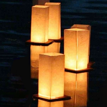 Floating Water Lanterns From Wish Lantern For Outdoor Memorial Lanterns (View 6 of 15)