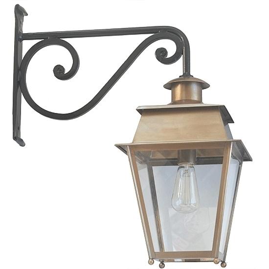 French Brass Or Zinc Wall Lantern Bordeaux – Terra Lumi Regarding Brass Outdoor Lanterns (#10 of 15)