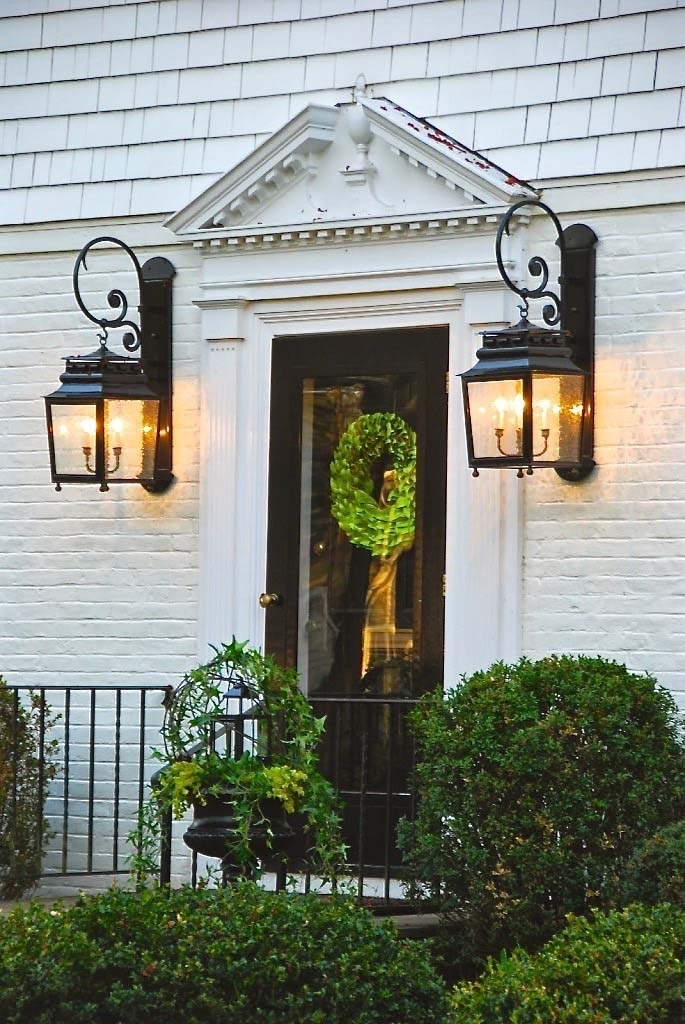 Front Door Lighting Tips – Kristywicks In Outdoor Door Lanterns (View 5 of 15)