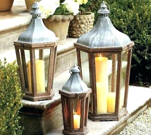 Garden Candle Lanterns Garden Candle Lanterns Chrome – Randallrootz Inside Large Outdoor Lanterns (View 12 of 15)