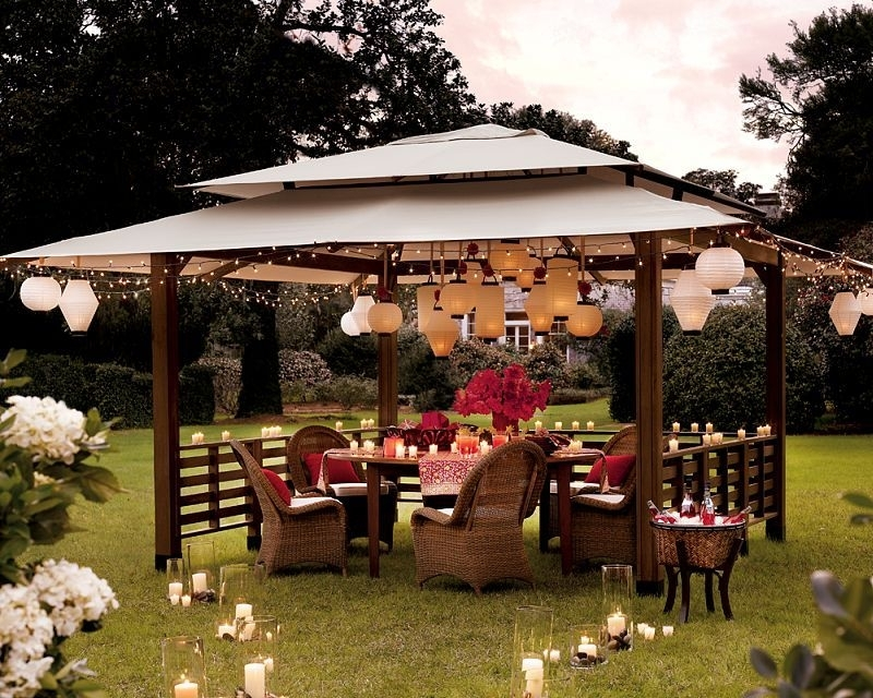 Inspiration about Gazebo Party On Grass W:lantern | Deco: Outdoor | Pinterest Regarding Outdoor Gazebo Lanterns (#3 of 15)