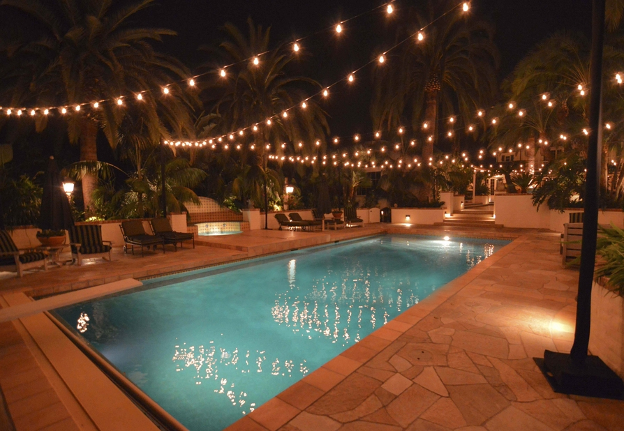 Inspiration about Get Your String Lights In Shape With Popular Patio Light Hanging Throughout Outdoor Pool Lanterns (#6 of 15)