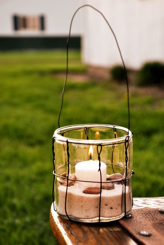 Inspiration about Glass & Wire Lantern, Votive Candle Holder, Hanging Glass Jar | Diy Pertaining To Outdoor Lanterns And Votives (#15 of 15)