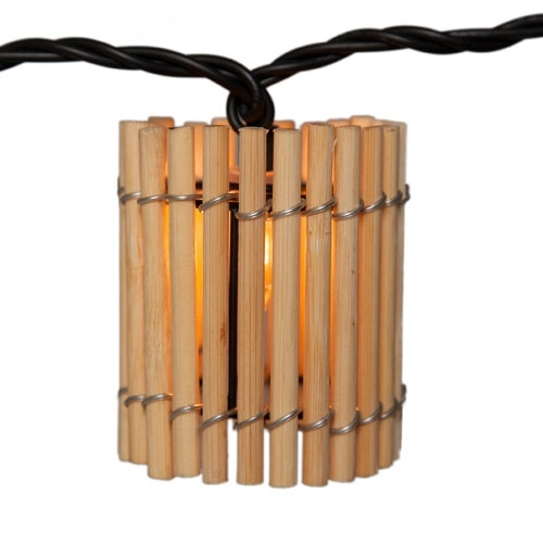 Inspiration about Globe Lanterns Patio String Lights Garden Winds Within Outdoor Bamboo Lanterns (#7 of 15)