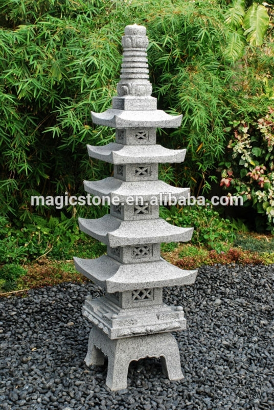 Inspiration about Grey Japanese Garden Granite Lantern Outdoor – Buy Granite Lantern Throughout Outdoor Japanese Lanterns For Sale (#5 of 15)