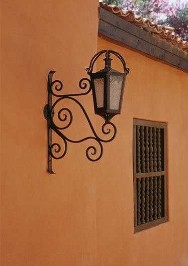 Hacienda Style : Iron Lighting Mexican Iron Lighting, Spanish Intended For Outdoor Mexican Lanterns (View 12 of 15)