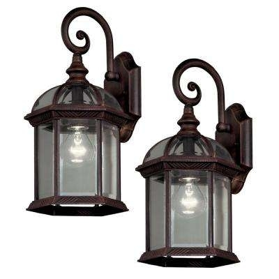 Hampton Bay – Outdoor Wall Mounted Lighting – Outdoor Lighting – The Regarding Home Depot Outdoor Lanterns (View 7 of 15)