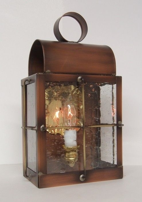 "Hand Made Solid Copper Outdoor Lantern ""barn Lamp""light Within Copper Outdoor Lanterns (View 8 of 15)"