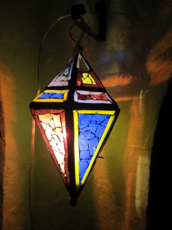 Popular Photo of Outdoor Mosaic Lanterns