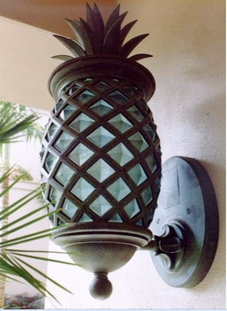 Home Accessory, Turquoise Pineapple Lantern Light T Sconce Outdoor Regarding Outdoor Pineapple Lanterns (#10 of 15)
