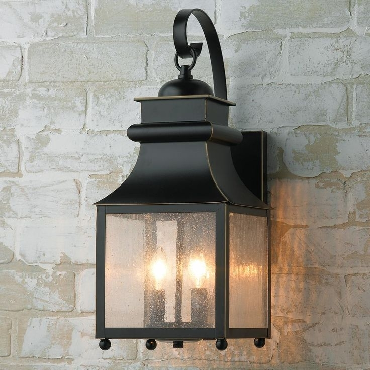 Homesteader Seeded Glass Outdoor Wall Lantern   Lighting Cam Throughout Outdoor Lanterns And Sconces (View 4 of 15)