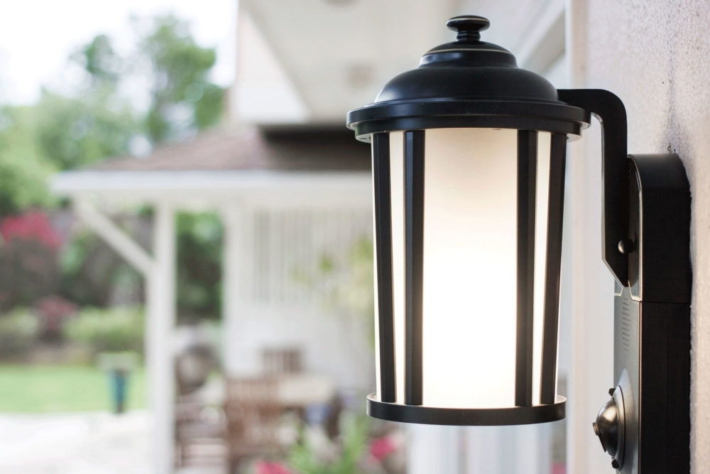 How To Add A Motion Sensor To Existing Outdoor Lights – Asecurecam Throughout Plug In Outdoor Lanterns (#3 of 15)
