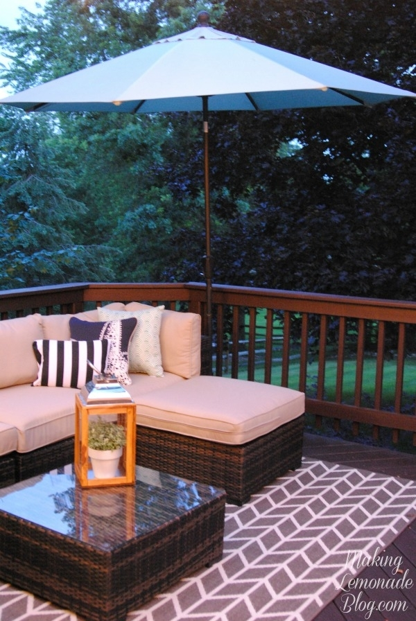 How To Hang Outdoor String Lights (the Deck Diaries, Part 3 Pertaining To Outdoor Lanterns For Deck (View 2 of 15)
