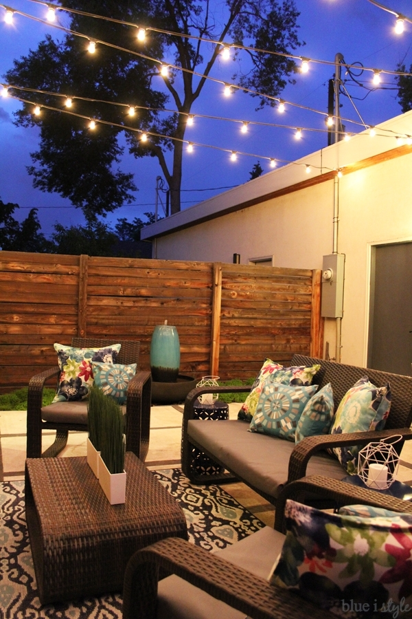 How To Hang Patio String Lights   Blue I Style – Creating An Within Outdoor Lawn Lanterns (View 15 of 15)