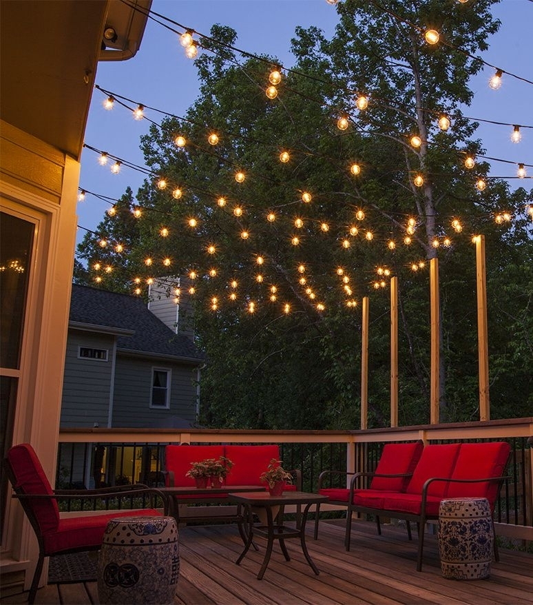 How To Plan And Hang Patio Lights   Dinner Party Ideas   Pinterest In Outdoor Lawn Lanterns (View 1 of 15)