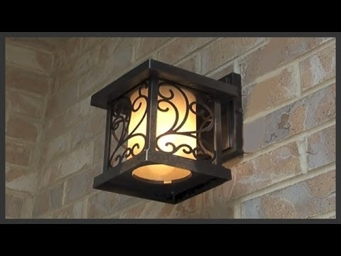 How To Replace Exterior House Lights – Youtube With Regard To Outdoor Lanterns For House (View 15 of 15)