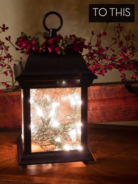 How To: Turn An Outdoor Light Fixture Into An Indoor Holiday Lantern Regarding Outdoor Holiday Lanterns (View 2 of 15)