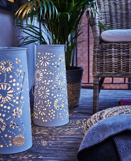 Inspiration about Ikea Led Solar Powered Floor Lamp Solvinden £15 | Two Decorative Within Ikea Outdoor Lanterns (#1 of 15)
