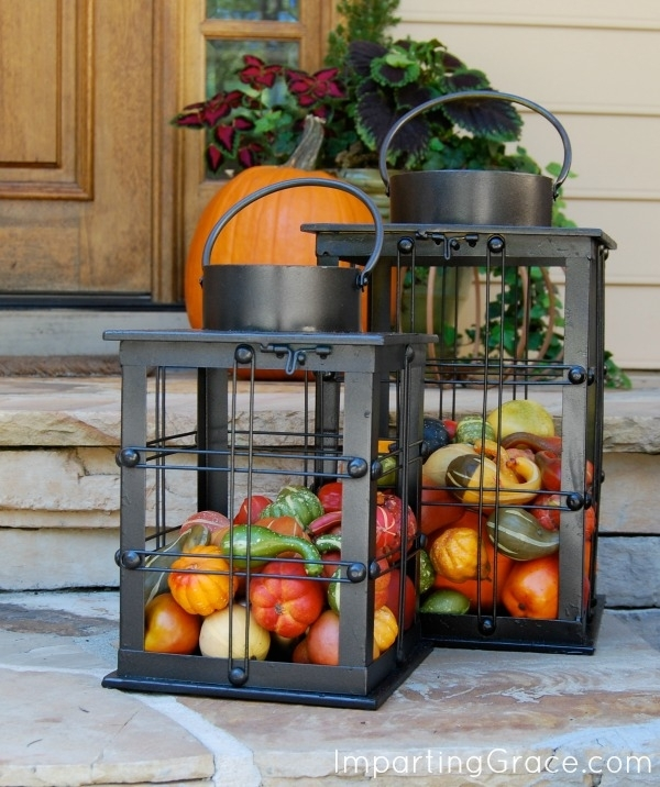 Imparting Grace: Easy Outdoor Decor For Fall With Large Outdoor Rustic Lanterns (View 10 of 15)