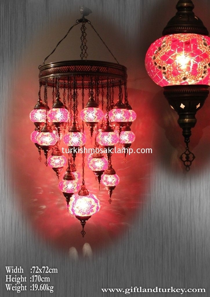 Inspiration about Indoor/outdoor Colored Tile Mosaic Lampottoman Lamp | Mosaic In Outdoor Mosaic Lanterns (#10 of 15)