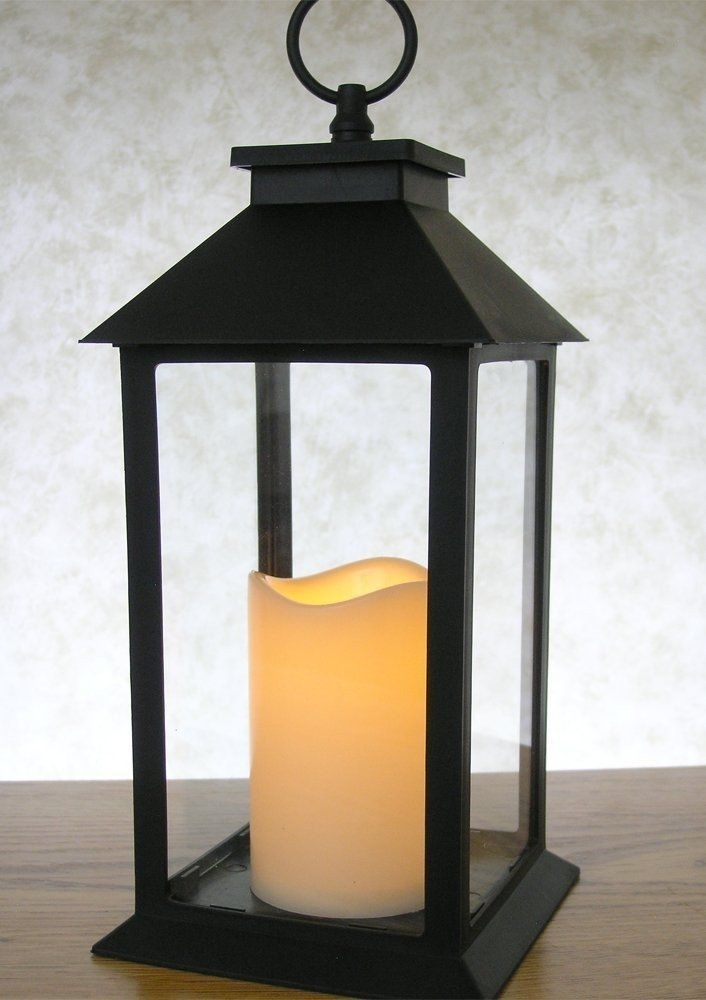 Inspiration about Indoor/outdoor Lantern. Beautiful Black Powder Coated Lantern With In Outdoor Timer Lanterns (#11 of 15)
