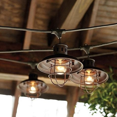 Industrial Outdoor String Lighting | Bethefoodie Pertaining To Industrial Outdoor Lanterns (#8 of 15)