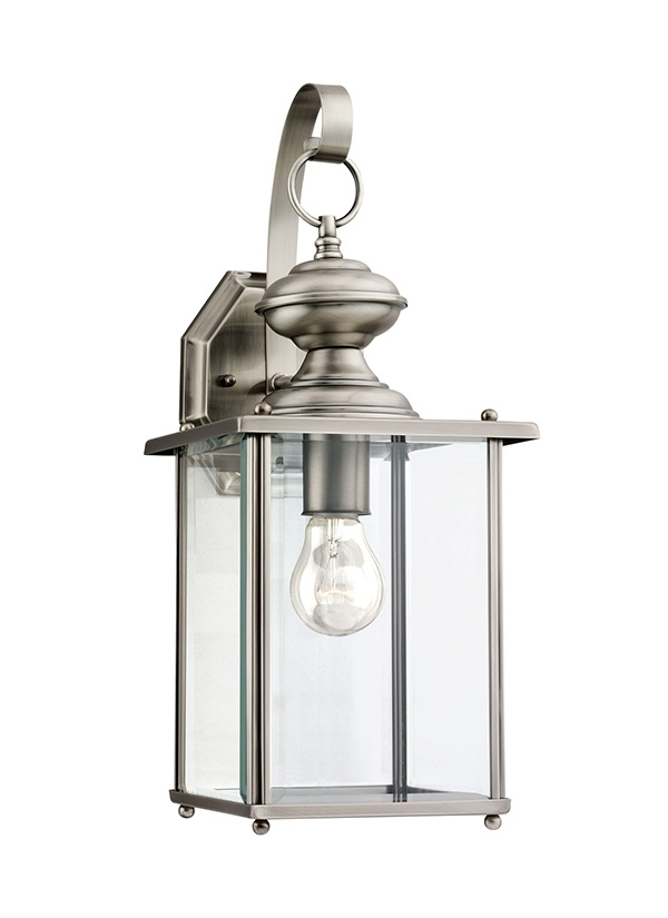 Jamestowne Collection: With Regard To Nickel Outdoor Lanterns (View 4 of 15)