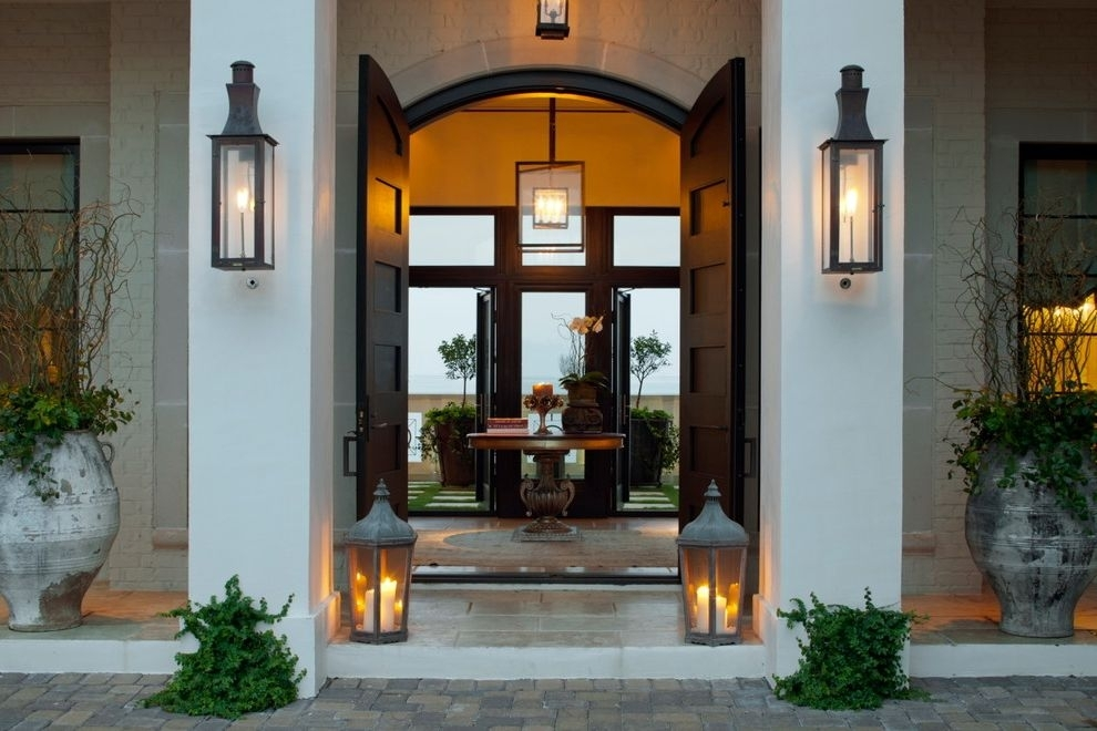 Japanese Outdoor Lanterns Contemporary Entry And Arched Doorway In Outdoor Lanterns For Front Door (View 4 of 15)