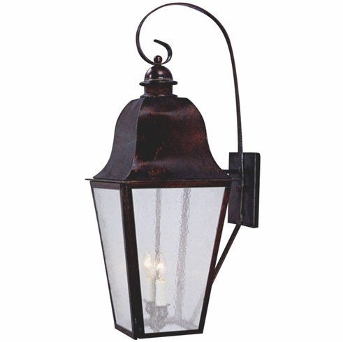 Keene Electric Copper Lantern Wall Light With Bracket Pertaining To Rustic Outdoor Electric Lanterns (#4 of 15)