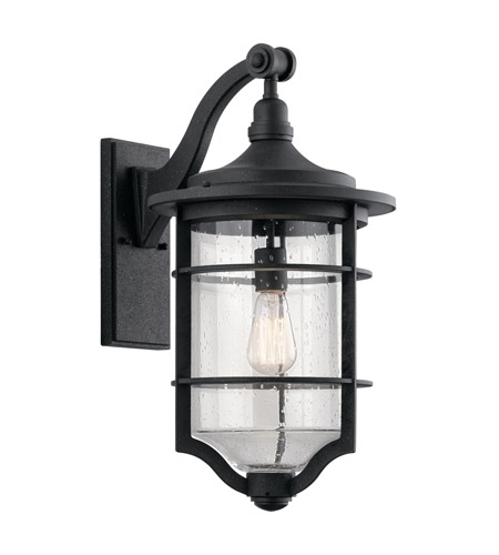 Kichler 49128dbk Royal Marine 1 Light 22 Inch Distressed Black Within Large Outdoor Wall Lanterns (View 9 of 15)