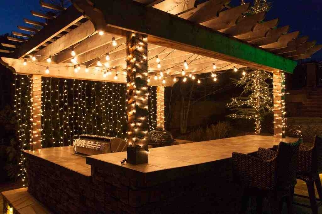 Kitchen Outdoor Patio Lights : Incredible Idea To Create Outdoor Regarding Outdoor Lawn Lanterns (View 10 of 15)