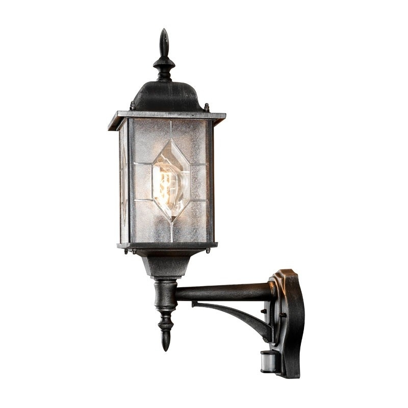 Konstsmide Milano Outdoor Lantern Wall Light With Pir Sensor – Lyco For Outdoor Pir Lanterns (#8 of 15)
